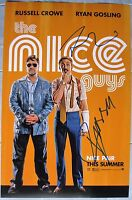 RYAN GOSLING AND RUSSELL CROWE THE NICE GUYS CAST SIGNED 11x17 PHOTO DC/COA RARE