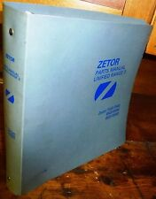ZETOR UNIFIED RANGE 3 75,85,9520/40 PARTS MANUAL w/BINDER