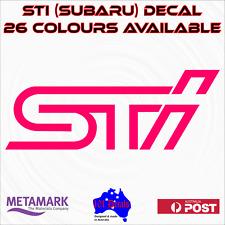 STI subaru wrx impreza panel,bonnet,windscreen,performance vinyl decal sticker!
