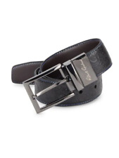 Brown BONKER NWT $98 New Robert Graham Reversible Belt men/'s size 40 Black