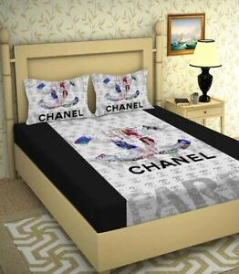 Super King Size Bedsheet Luxury Glace Cotton Large Bedding Set With Pillow Cover