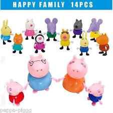 Family Familia Peppa Pig Friends Amigos Toys Pepa Pig Kids 14 pcs