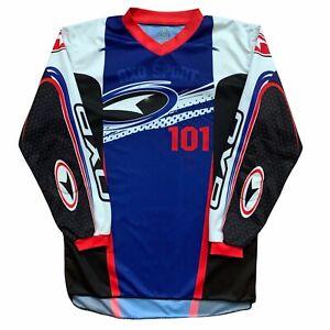 AXO Sport Motorcross Padded Jersey Long Sleeve Blue Mens Size XL