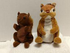 "VTG Zangeen 6"" Squirrel Bean Plush & 2009 Hasbro FurReal Friends Squirrel works"