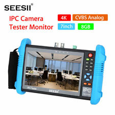 US 7 Inch 4K IPC Camera CCTV Tester Monitor CVBS POE Audio H.265 PTZ Control LED