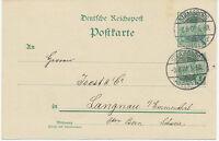 """DT.REICH """"STRASSBURG / (ELS.) 4"""" K2 a. Pra.-Reichspost-GA mit Zusatzfrank. 1901"""