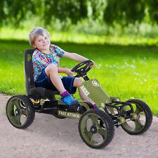 Go Kart Ride On Racer Kids Children Hand Brake Pedal Powered Adjustable EVA Tyre