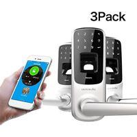 3 PACK Ultraloq UL3 BT Bluetooth Enabled Fingerprint and Touchscreen Smart Lock