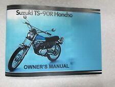 Suzuki TS90 1971  owner's manual  TS90R