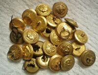 25 X  2 CM SMALL S/H GOLD AUSTRALIAN MILITARY 2 CM BUTTONS NAVY