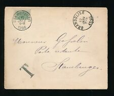 BELGIUM 1896 BISECT USED as POSTAGE DUE GRANDGLISE to STAMBRUGES PRINTED MATTER