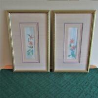 Vintage Pair of Dale Nichols Limited Original Signed & Numbered Floral Prints