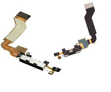 iphone 4S 4GS USB Charging Dock Port Connector + Mic Assembley Flex Cable Black