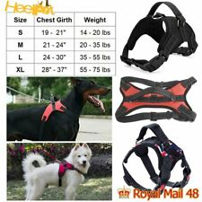 More details for dog pet harness nylon adjustable control vest dogs reflective s xl with15f leash