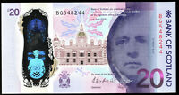 2019 bank of scotland £20 pound banknote new polymer plastic UNC real currency