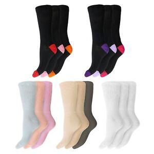 Ladies Super Soft EXTRA WIDE DIABETIC Cotton Socks UK 4-8 EU 37-42 Non-Binding