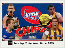 2009 Topps AFL Collectable Poker Chipz Collectors Tin (Coleman Medal Franklin)