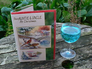 Auntie & Uncle Christmas Xmas Card choice from 4 trad hi quality combine p&p