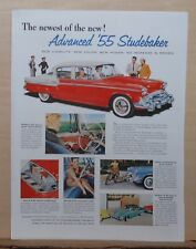 1955 magazine ad for Studebaker - red 1955 Studebaker, Newest of the New