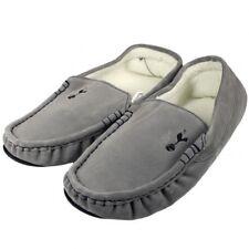 Tottenham Hotspur Football Club Mens Grey Moccasin Slippers Size 9/10 Free UK PP