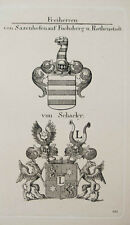 1847 Wappen Freiherren von Sazenhofen auf Fuchsberg & Rothenstadt von Schacky