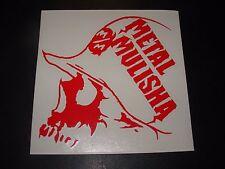 "METAL MULISHA Red Skull Helmet Skate Sticker Decal 6"" motocross skateboard decal"