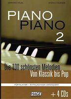 Klavier Noten : PIANO PIANO 2 m. CD - Ausgabe : MITTELSCHWER - B-WARE