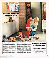 PUBLICITE ADVERTISING 055  1973  BUTANE PROPANE  chauffage triple confort