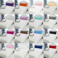 2/1Pcs Solid Pillow Case Cover Pillowcase Standard Queen King Body Size