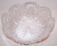 "STUNNING SIGNED WATERFORD CRYSTAL PINEAPPLE DESIGN SCALLOPED 9"" CENTERPIECE BOWL"