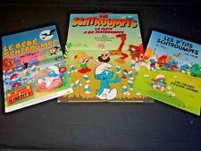 LES SCHTROUMPFS ! les 3 affiches cinema peyo animation bd rare