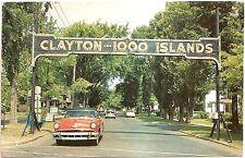 Clayton - Thousand Islands, New York NY Vintage 1959 Chrome Postcard