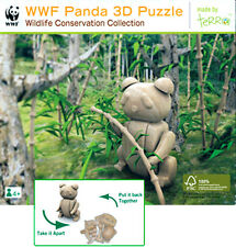 NEW IN BOX World Wildlife Fund WWF Wooden Panda 3D Puzzle Terra - Family Games