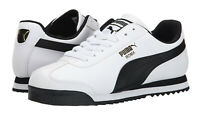 Puma Roma Classic White Black Mens Running Trainers Sneakers Shoes 353572-04