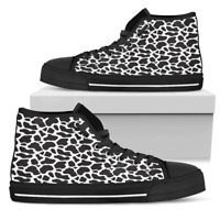 Cow Animal Print - Women's High Top Shoes