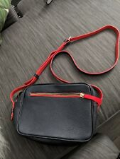 Boden Navy & Red Leather Crossbody Bag