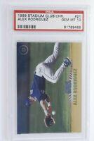 1999 Topps Stadium Club Chrome Alex Rodriguez #21 PSA 10 Gem Mint Pop 9