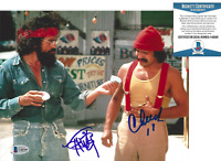 CHEECH MARIN & TOMMY CHONG SIGNED UP IN SMOKE 8x10 MOVIE PHOTO BECKETT COA BAS