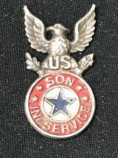 WW 1 Son In Service Blue Star Pin