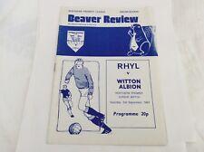 Rhyl v Witton Albion  Northern Premier League  September 1983