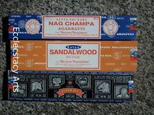 Satya Sampler Nag Champa-Super Hit-Sandalwood Incense Sticks 3x40=120 Grams