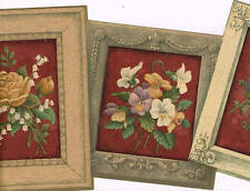 Gorgeous Framed Flowers Wallpaper Border