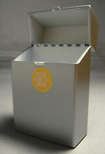 METALLIC SILVER GREY FINISH HARD PLASTIC POP OPEN CIGARETTE CASE FOR 100's SIZE