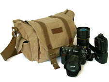 Courser Canvas Shoulder Bag Case For Canon Nikon Fuji Sony Digital SLR Cameras