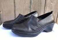 Dansko Dark Brown Slip On Women's Clog Shoes Size US 10.5-11 / EU 41