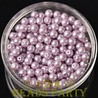 New 300pcs 6mm Round Czech Glass Pearl Loose Spacer Beads Baby Purple