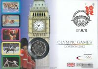 Großbritannien 3290 auf Numisbrief 50 Pence-Münze FDC 2012 Pence-Münzbrief Olymp