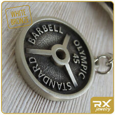 Fitness keychain Barbell Weight Bodybuilding gift Powerlifting personal coach