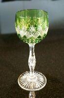 Beautiful Vintage Bohemian Flash Green Wine Hock