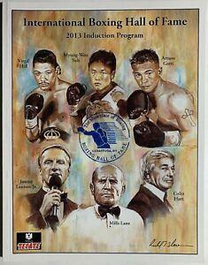 2013 Boxing International Hall of Fame Induction program ARTURO GATTI